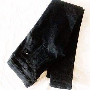black leather rag & bone jeans